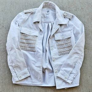 Gap Cream Denim Jacket.